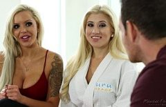 Pizde Blonde Care Ii Fac Masaj Si Il Fut Pe Un Barbat